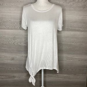 White Active USA Tee with Tie Large